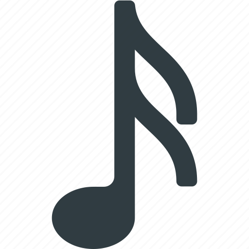 Note, sound, play, music icon