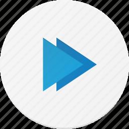 forward, interface, music icon