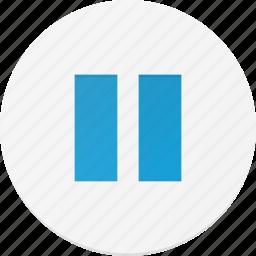 interface, music, pause, sound icon