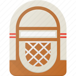 bar, box, juke, music, player, retro icon