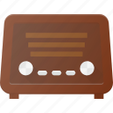 music, old, radio, retro, sound, vintage icon