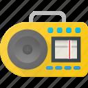 casette, music, player, retro icon