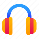 headphones, headset, listening, music icon