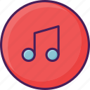 audio, instrument, melody, music, musical, note, sound icon