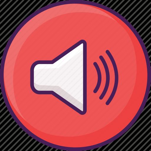 audio, interface, music, player, speaker, volume icon