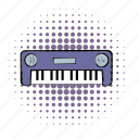 comics, instrument, keyboard, music, piano, sound, synthesizer icon