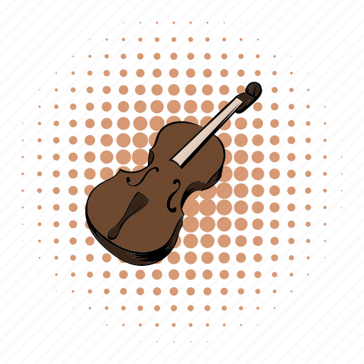classical, comics, instrument, music, musical, string, violin icon