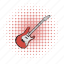 band, comics, electric, guitar, instrument, music, string icon