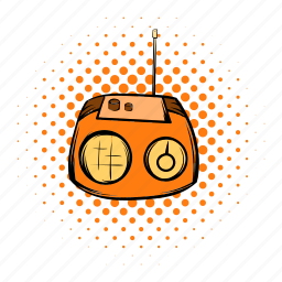 audio, comics, entertainment, music, radio, sound, tuner icon