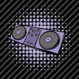audio, comics, console, dj, equipment, music, musical icon