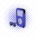 audio, comics, display, mp3, music, player, portable icon