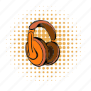 audio, comics, earphone, headphone, modern, sound, stereo icon