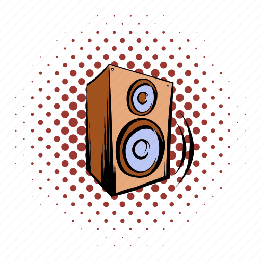 amplifier, audio, bass, comics, music, sound, speaker icon