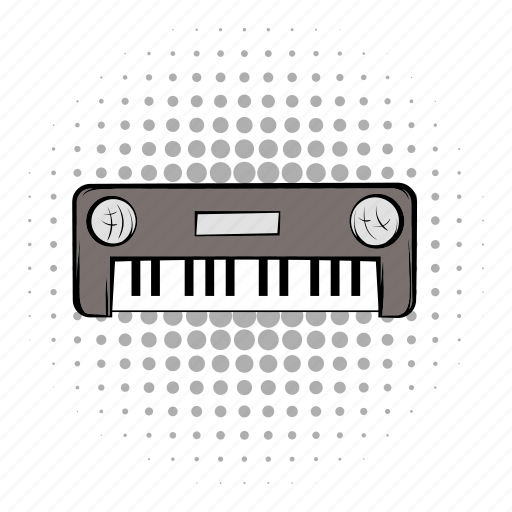 audio, comics, grey, instrument, music, musical, synthesizer icon