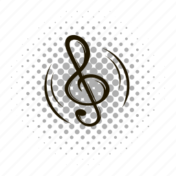 comics, key, melody, music, musical, note, sound icon