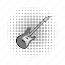 comics, electric, grey, guitar, music, sound, string icon
