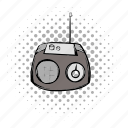 comics, equipment, music, radio, retro, sound, technology icon