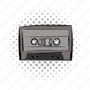 audio, cassete, comics, music, retro, sound, tape icon