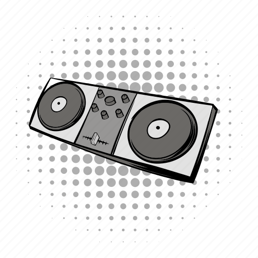 audio, comics, console, dj, mixing, music, sound icon