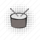 comics, drum, grey, instrument, music, musical, sound icon