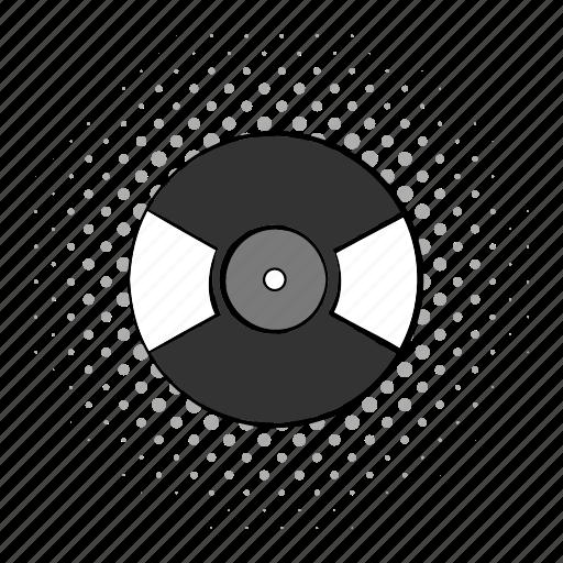 comics, gramophone, media, plate, record, rock, vinyl icon