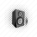 acoustic, audio, comics, music, power, speaker, stereo icon