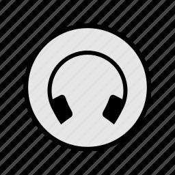 headphones, listen, music, play, songs, sound icon