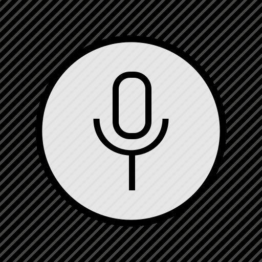 mic, music, record, sound, voice icon