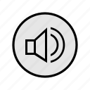 enabled, music, songs, sound, speaker, volume icon