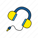 device, earphones, headphones, music icon