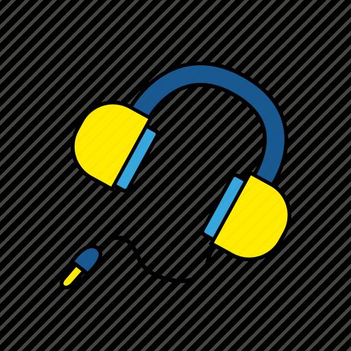device, earphones, headphones, music icon