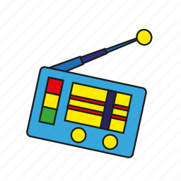 antenna, broadcast, device, entertainment, media, music, radio icon