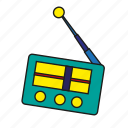 antenna, broadcast, device, entertainment, media, music, radio icon