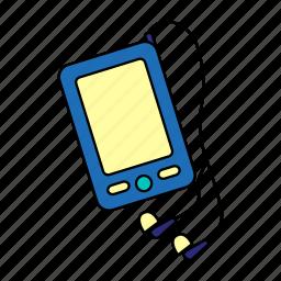 audio, device, media, modern, player, podcast, smartphone icon