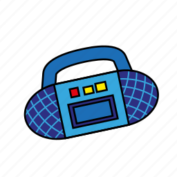 boom box, cassete, music, old school, player, recorder, tape icon