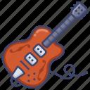electric, guitar, instrument, jazz icon
