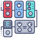 effect, guitar, pedal, pedals icon