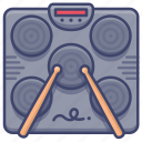 drum, electronic, machine, portable icon