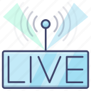 live, livehouse, performent, show icon