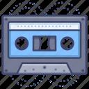audiotape, cassette, tape icon