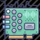 card, hardware, sound icon