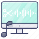 music, musical, software icon