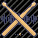 beat, beats, drumsticks icon