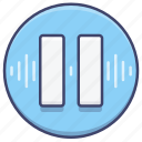 control, music, pause icon