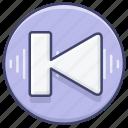 control, previous, song icon