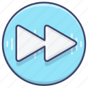 forward, media, song icon
