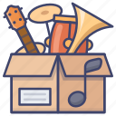 instrument, packs, sound icon
