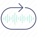 loop, music, repeat icon