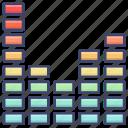audio, equalizer, volume icon