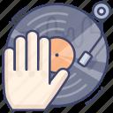 dj, live, turntable, vynil icon
